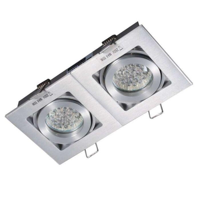 Inbouwspot-Quadro-2-aluminium
