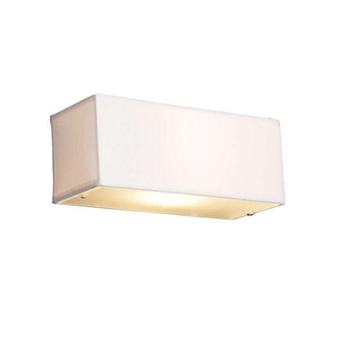 Moderne-wandlamp-rechthoekig-wit---Drum