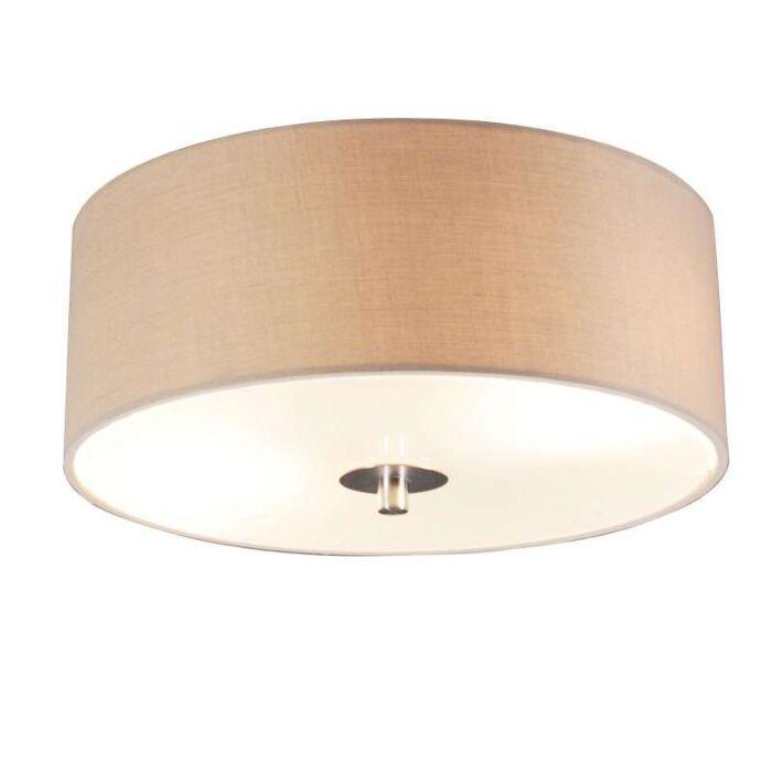 Landelijke-plafondlamp-beige-30-cm---Drum