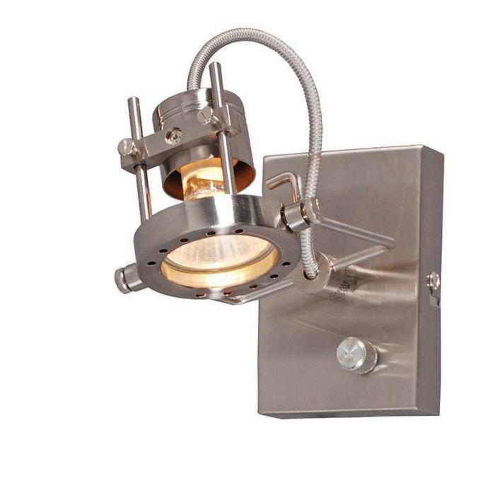 Wandlamp-Suplux-1-met-dimmer-staal