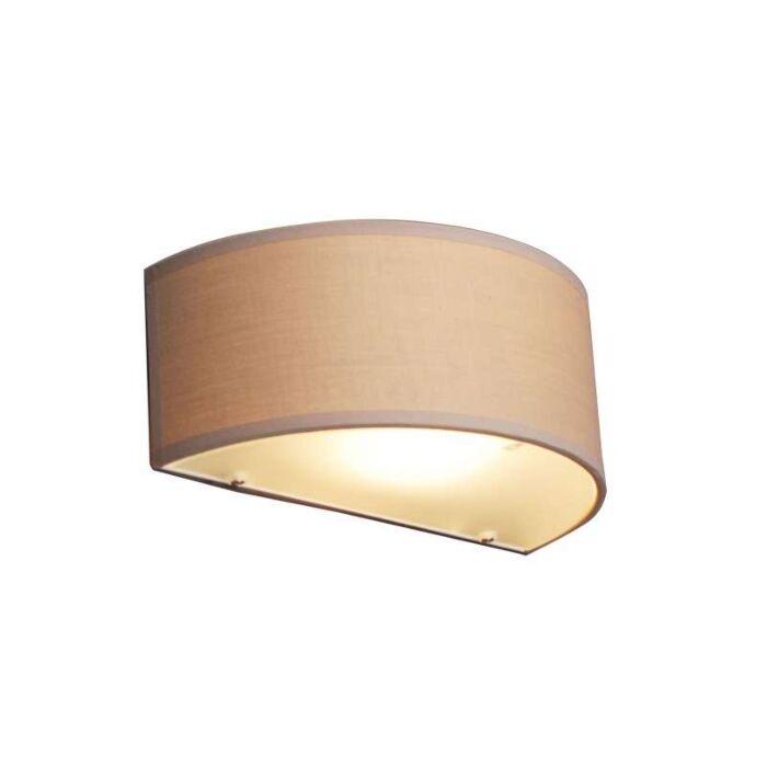 Wandlamp-Drum-half-rond-beige