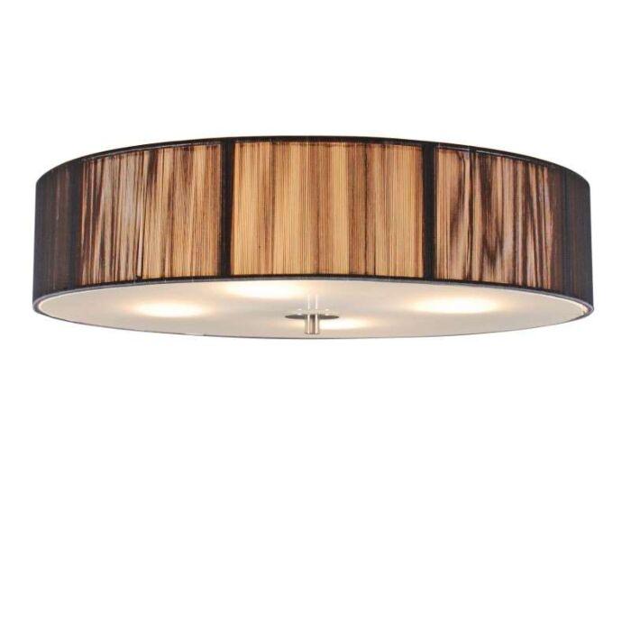 Klassieke-plafondlamp-antraciet-50-cm---Rope