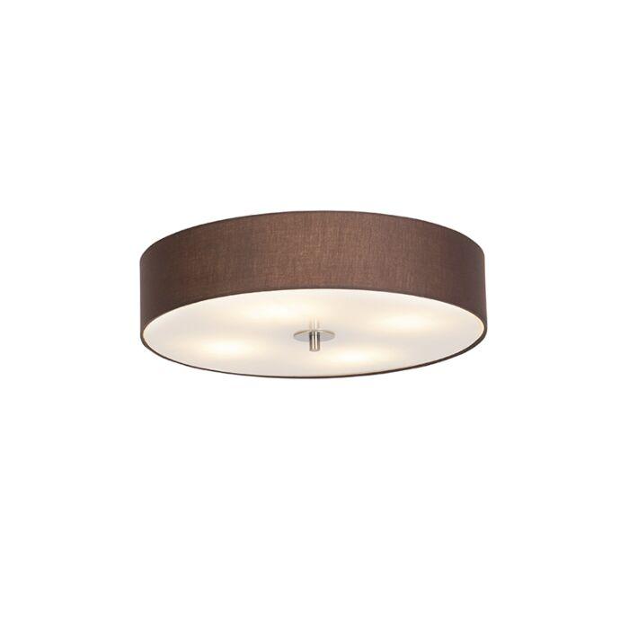 Landelijke-plafondlamp-bruin-50-cm---Drum