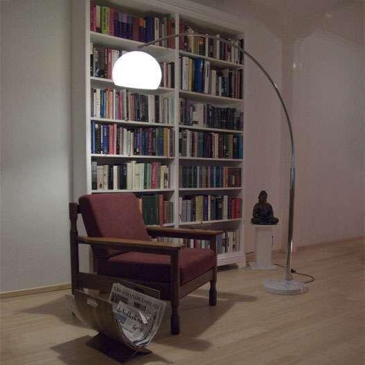 Grote-booglamp-chroom-Basic