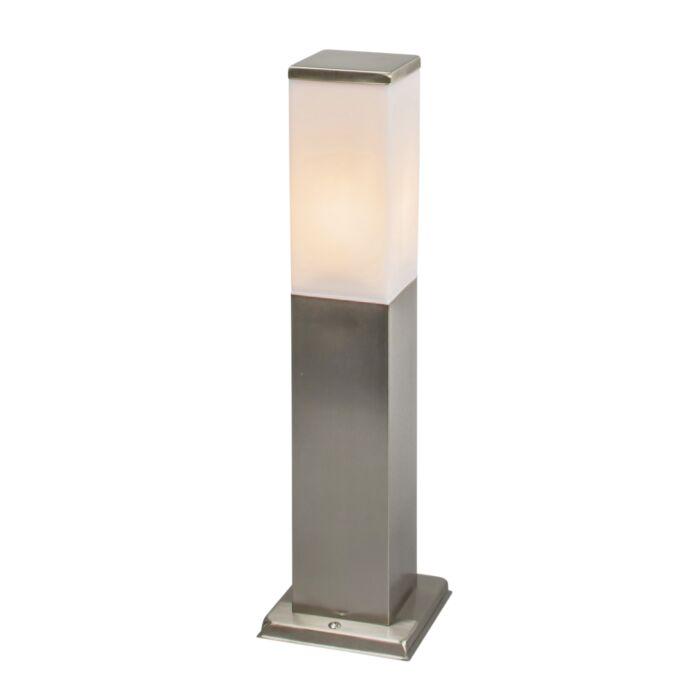 Moderne-vierkante-buitenlamp-45cm-staal---Malios