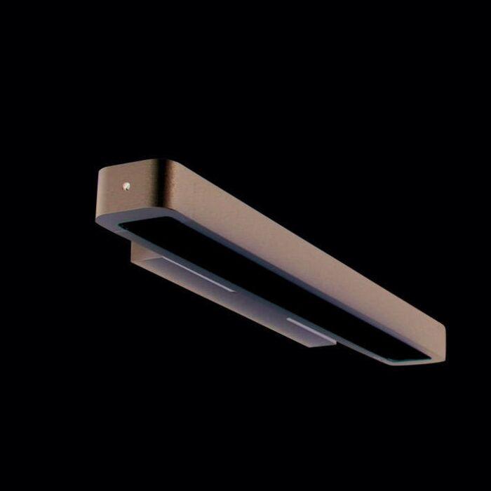 Wandlamp-Tube-U-14W-zilver