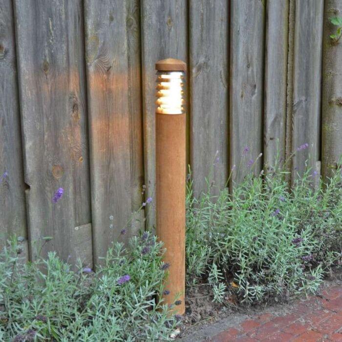 Buitenlamp-Pole-paal-70-teak