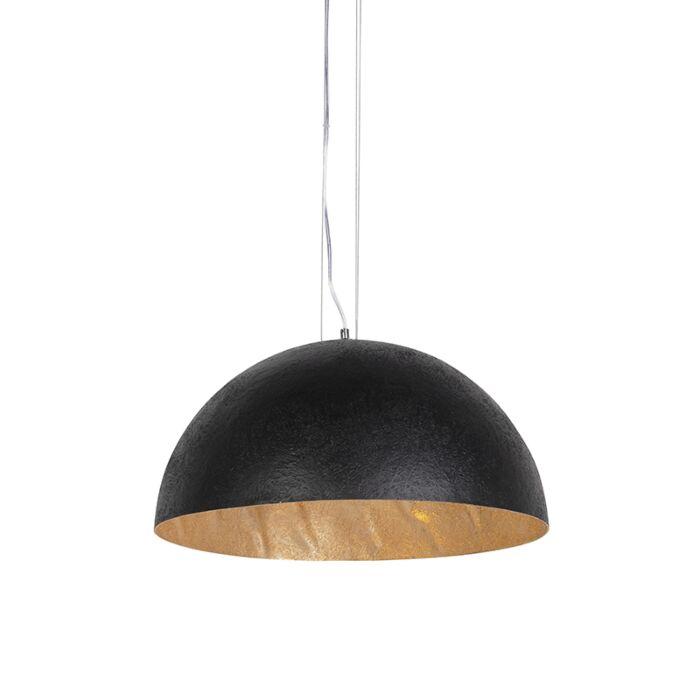 Industriële-hanglamp-zwart-met-goud-50-cm---Magna