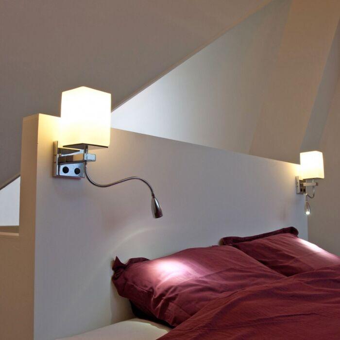 Wandlamp-Brescia-chroom-met-wit-glas