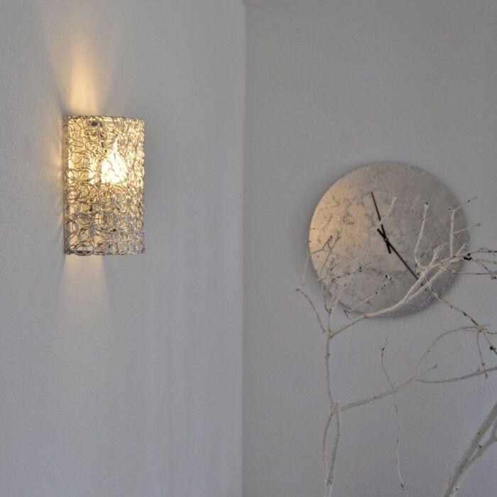 Wandlamp-Draht-half-aluminium