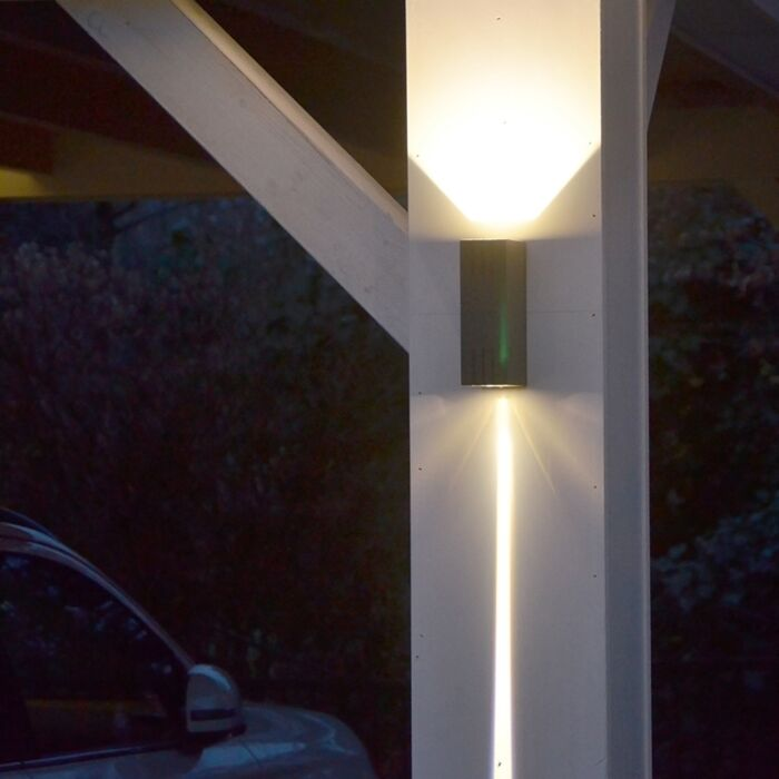 Wandlamp-Duell-donkergrijs