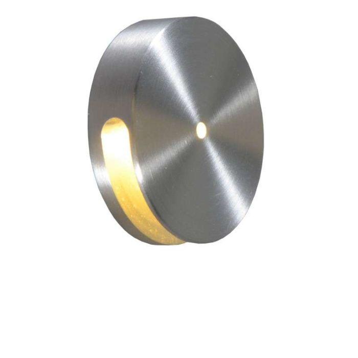 Wand-inbouwlamp-Quartz-rond-I-aluminium