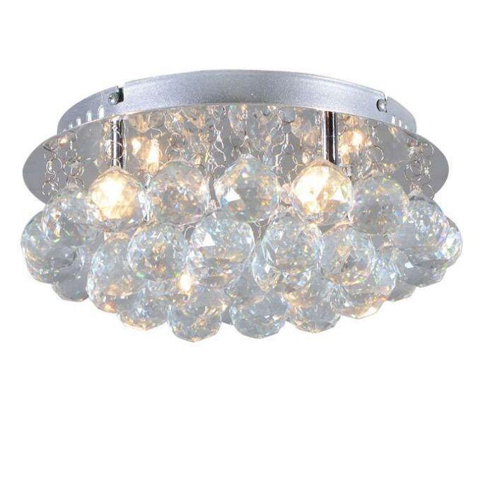 Plafonniere-Diamond-30cm-chroom