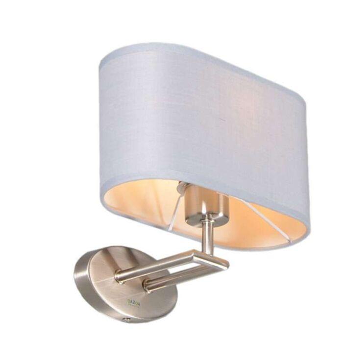 Wandlamp-Zadar-staal-met-ovale-kap-grijs