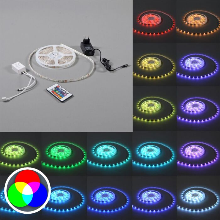 Flexibele-RGB-LED-strip-IP20-5mtr-set
