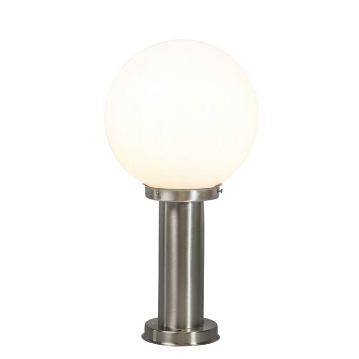 Moderne-buitenlamp-paal-staal-RVS-50-cm---Sfera