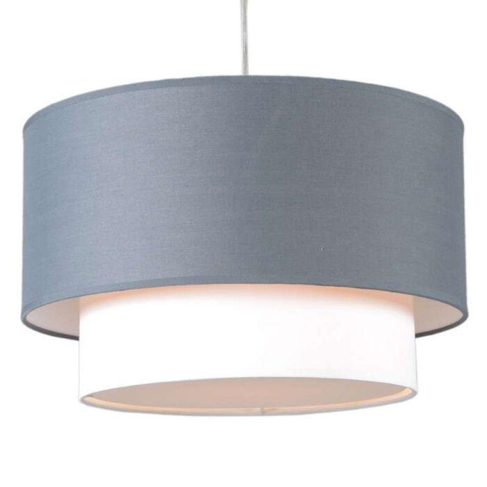 Hanglamp-Tamburo-Due-40cm-grijs-wit