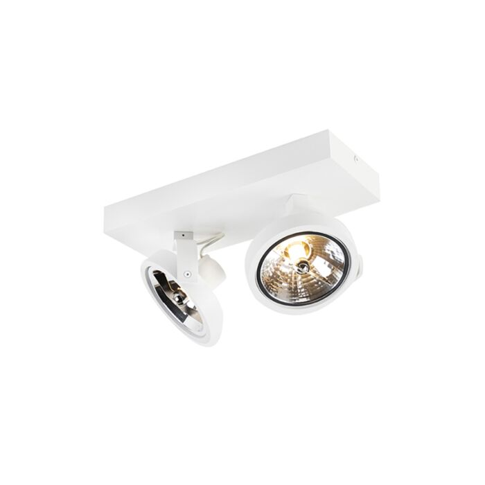 Design-spot-wit-verstelbaar-2-lichts-incl.-LED---Go