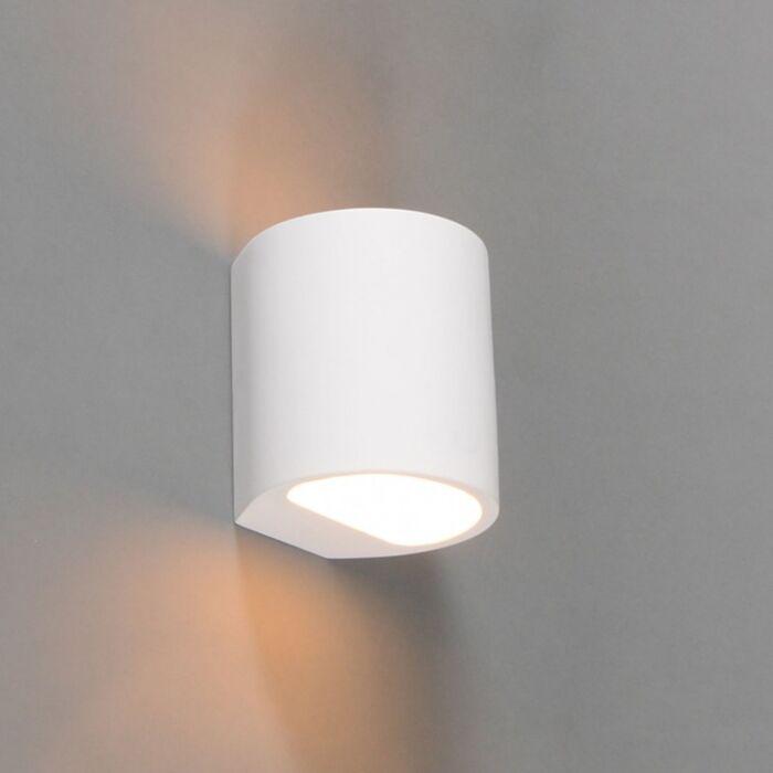 Moderne-wandlamp-wit-rond---Gipsy-Arles