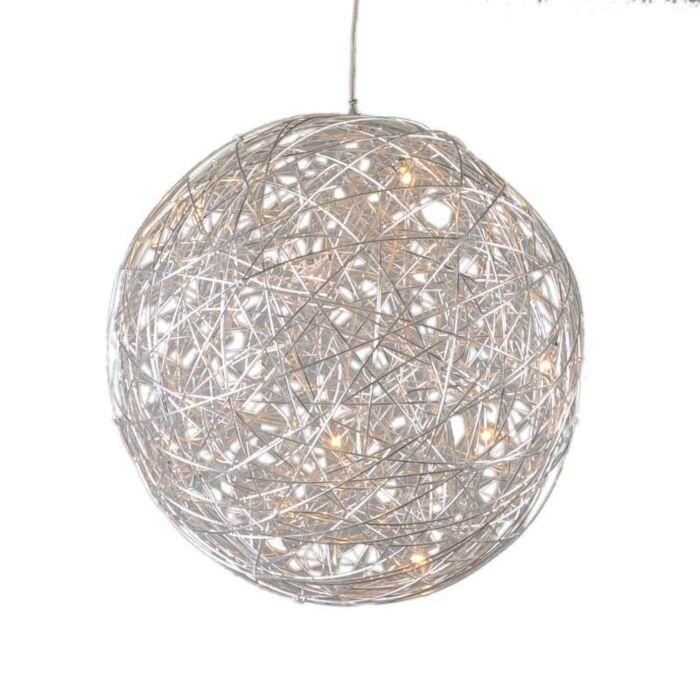 Hanglamp-Draht-bol-60cm-aluminium