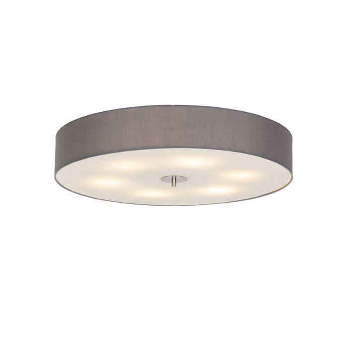 Landelijke-plafondlamp-grijs-70-cm---Drum