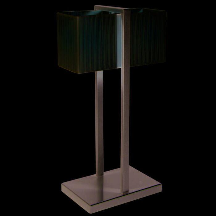 Tafellamp-Lars-zilvergrijs-met-plisee-kap-creme
