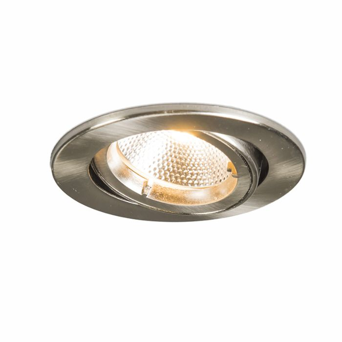 Inbouwspot-Safe-rond-staal-met-6W-LED