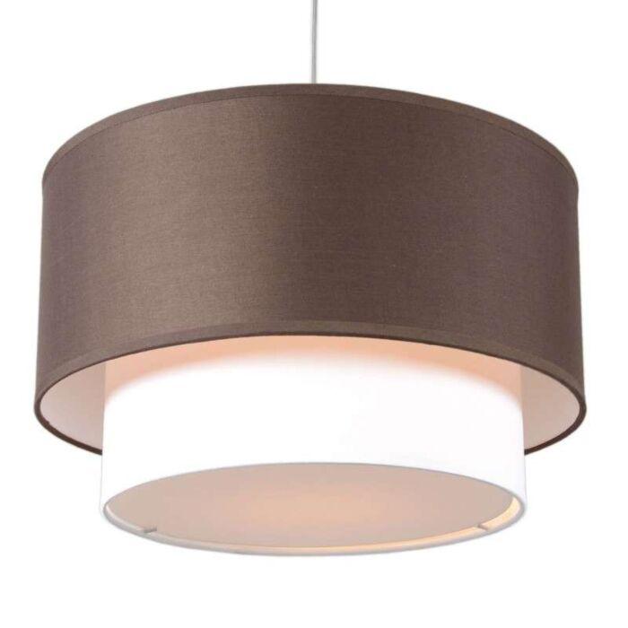 Hanglamp-Tamburo-Due-40cm-bruin-wit
