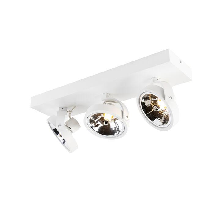 Design-spot-wit-verstelbaar-3-lichts-incl.-LED---Go