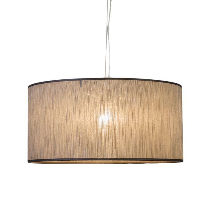 Hanglamp-Cappo-1-met-kap-bruin-gemeleerd