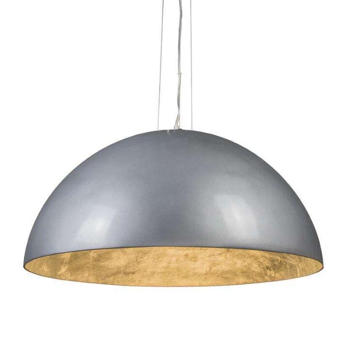 Hanglamp-Magna-Glossy-70cm-zilver-met-zilver