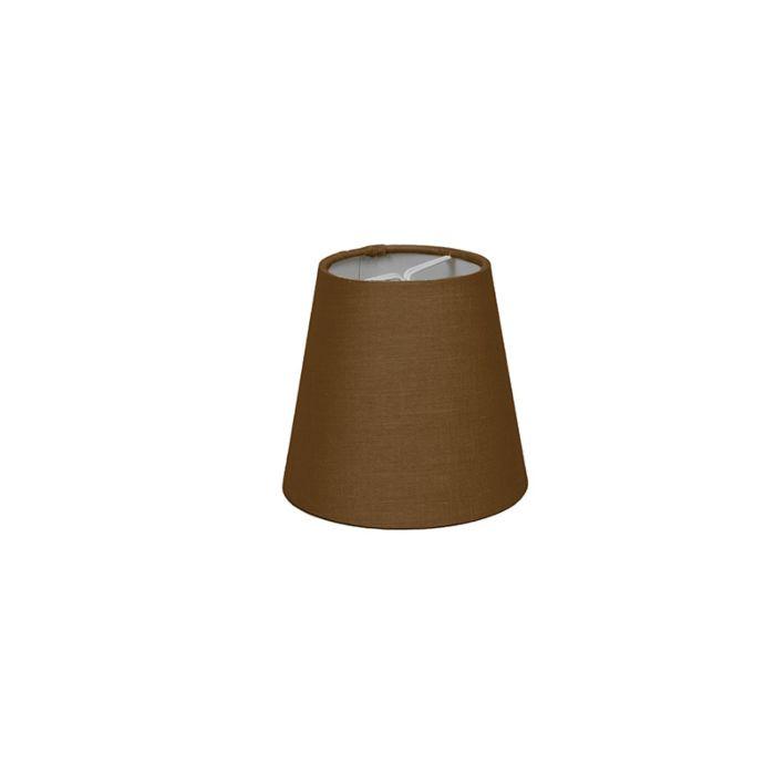 Klemkap-12cm-rond-SC-bruin