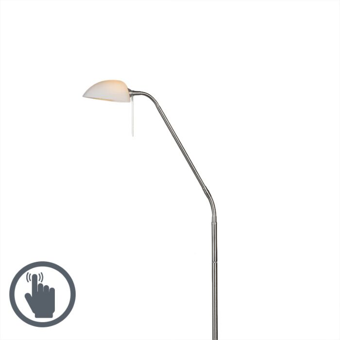 Vloerlamp-Vince-Glass-staal