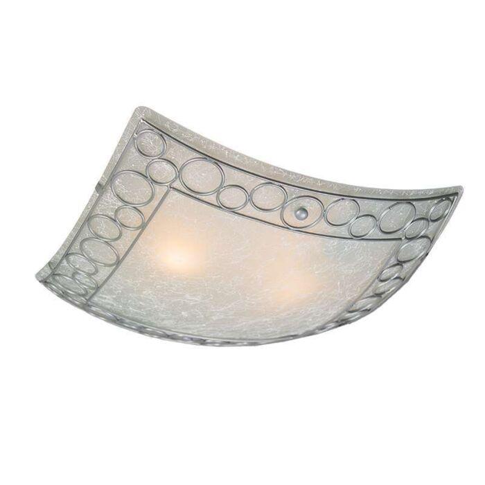 Plafonniere-Titan-vierkant-met-glas