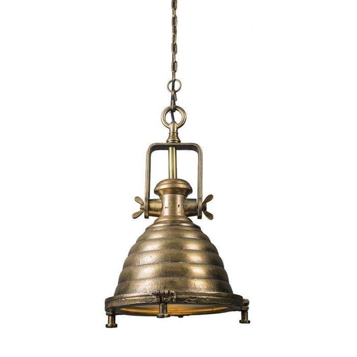 Hanglamp-Fort-Raw-M-brons-antiek