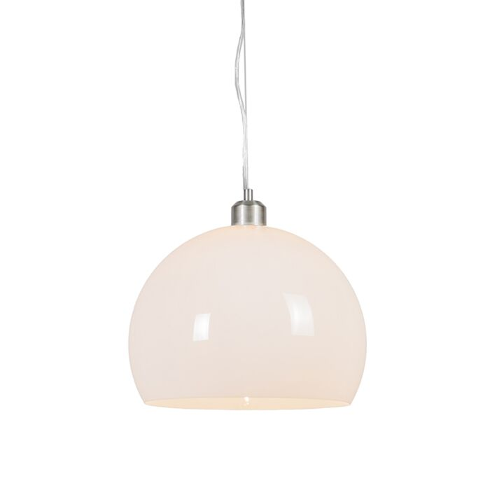 Moderne-ronde-hanglamp-opaal-wit---Globe