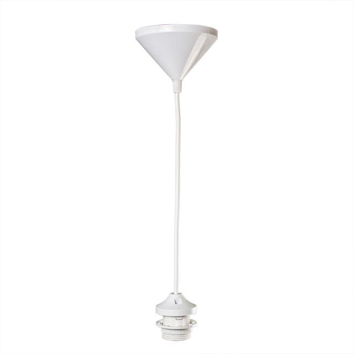 Pendel-30cm-E27-wit