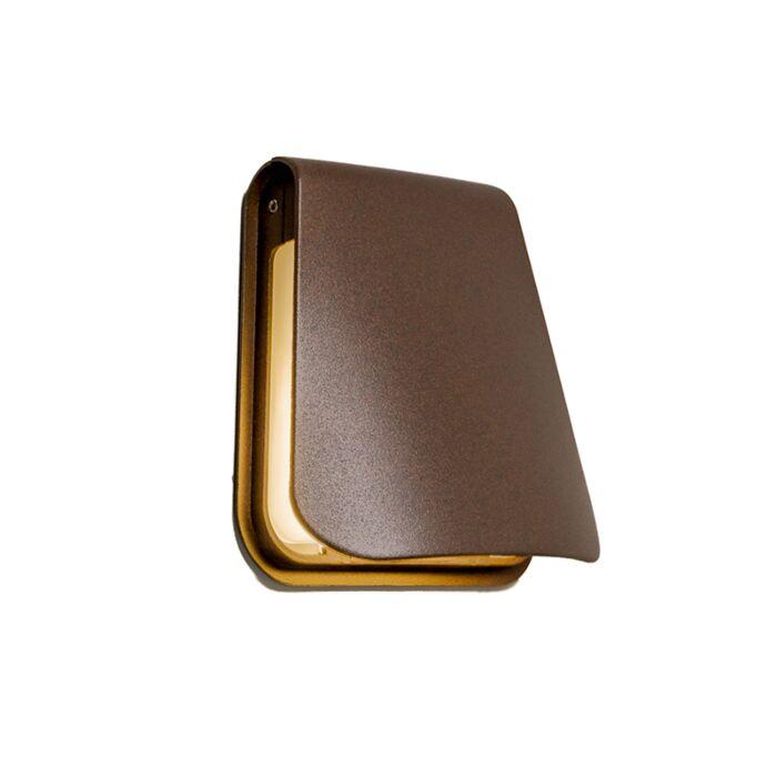 Wandlamp-Cover-LED-roestbruin
