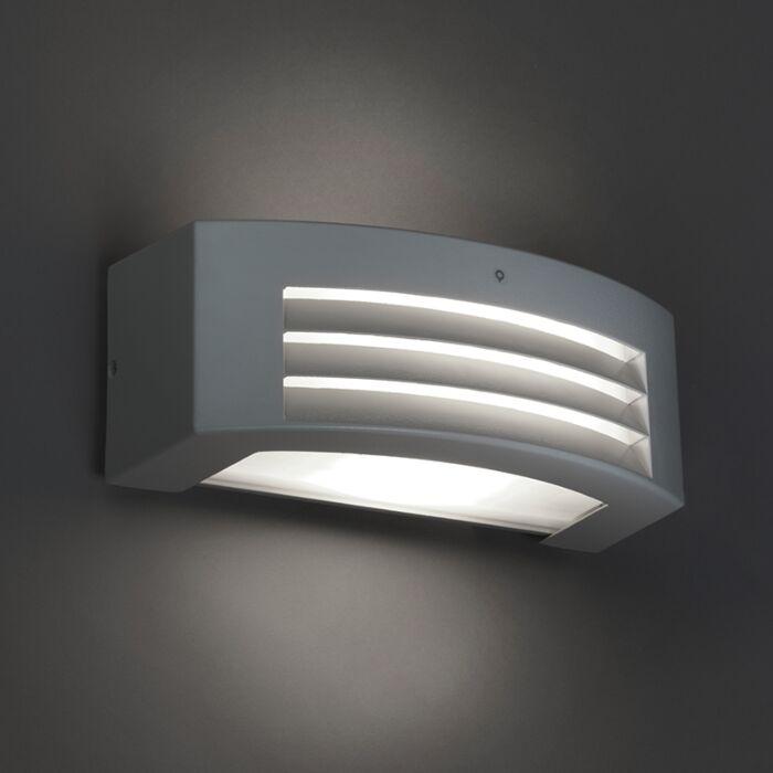 Moderne-wandlamp-lichtgrijs-IP44---Hurricane-1