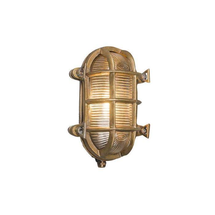 Wand/plafondlamp-Nautica-ovaal-goud