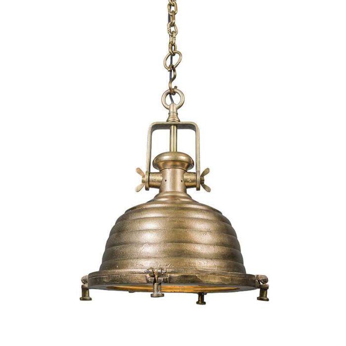 Hanglamp-Fort-Raw-L-brons-antiek