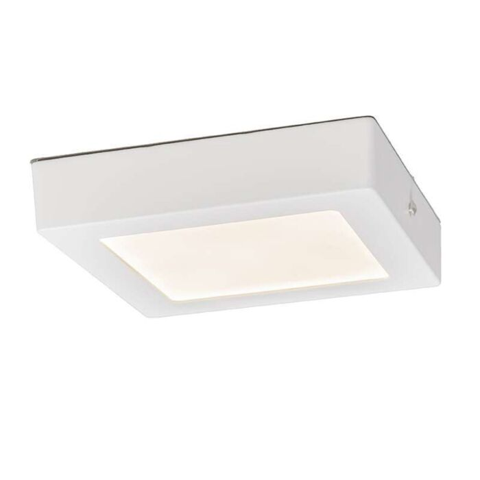 Plafonniere-Plate-12W-LED-vierkant-wit