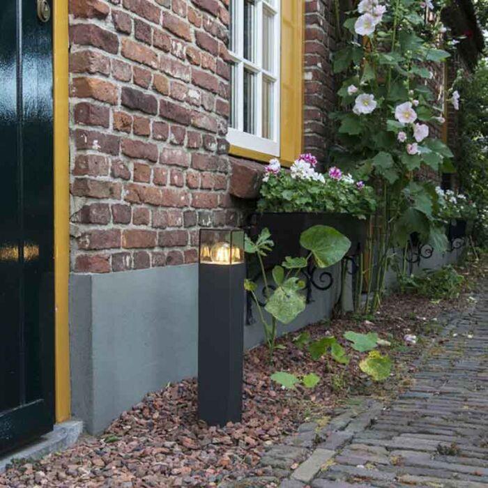 Moderne-staande-buitenlamp-50-cm-antraciet-IP44---Denmark