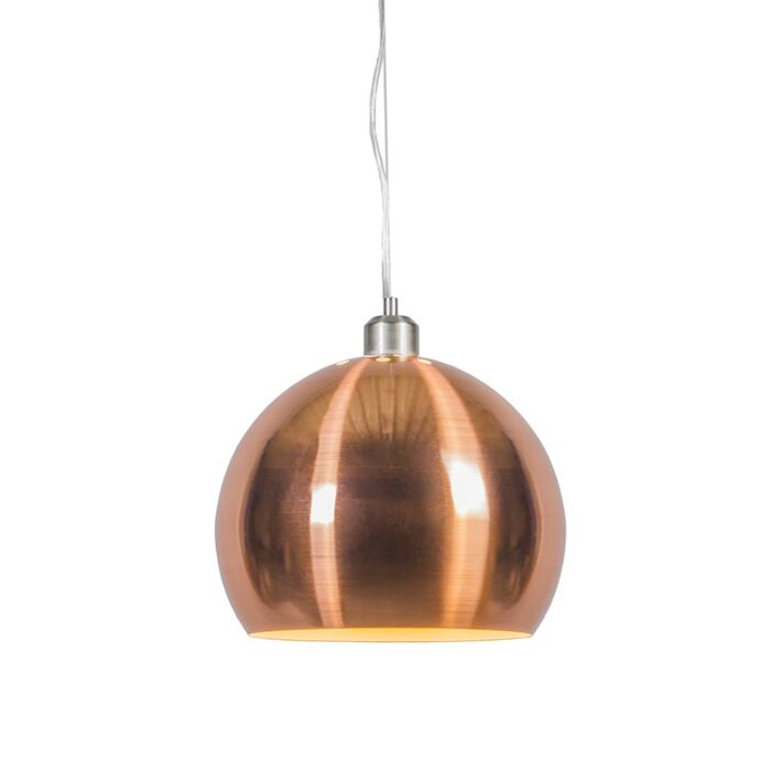Hanglamp-Globe-28cm-mat-koper