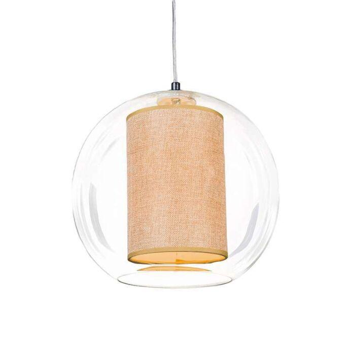 Hanglamp-Globe-30-met-kap-beige
