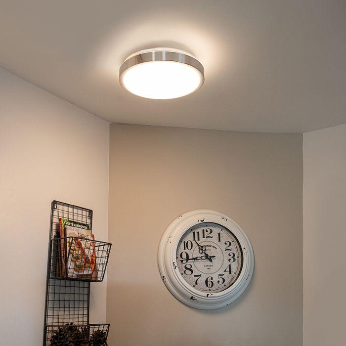 Moderne-plafonnière-aluminium-28-cm-incl.-LED-12W---Avant