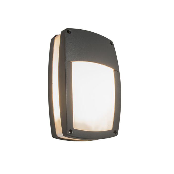 Moderne-buitenwandlamp-donkergrijs---Glow-recta-1