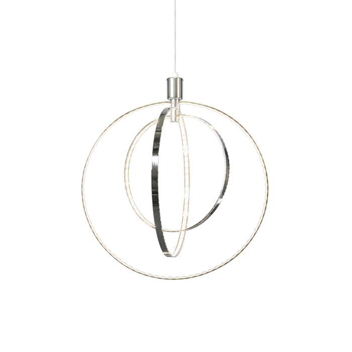 Moderne-hanglamp-chroom-incl.-LED---Halo-Large