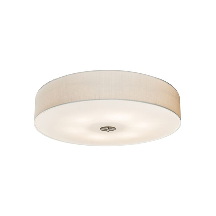 Landelijke-plafondlamp-wit-70-cm---Drum-Jute