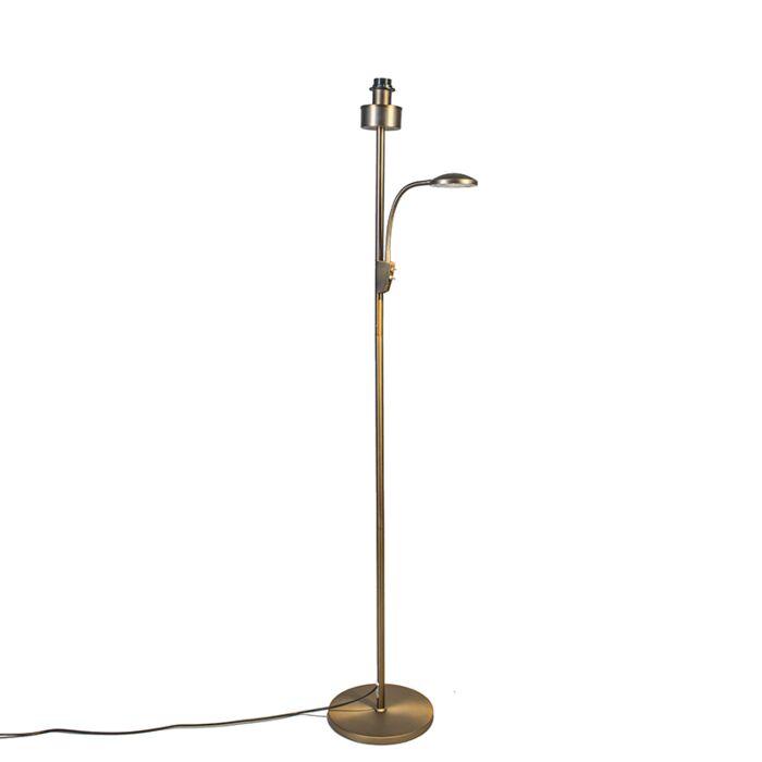 Vloerlamp-Trento-combi-brons-zonder-kap